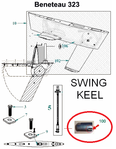 B 311 Swing keel - Where can I find this part? | SailboatOwners com