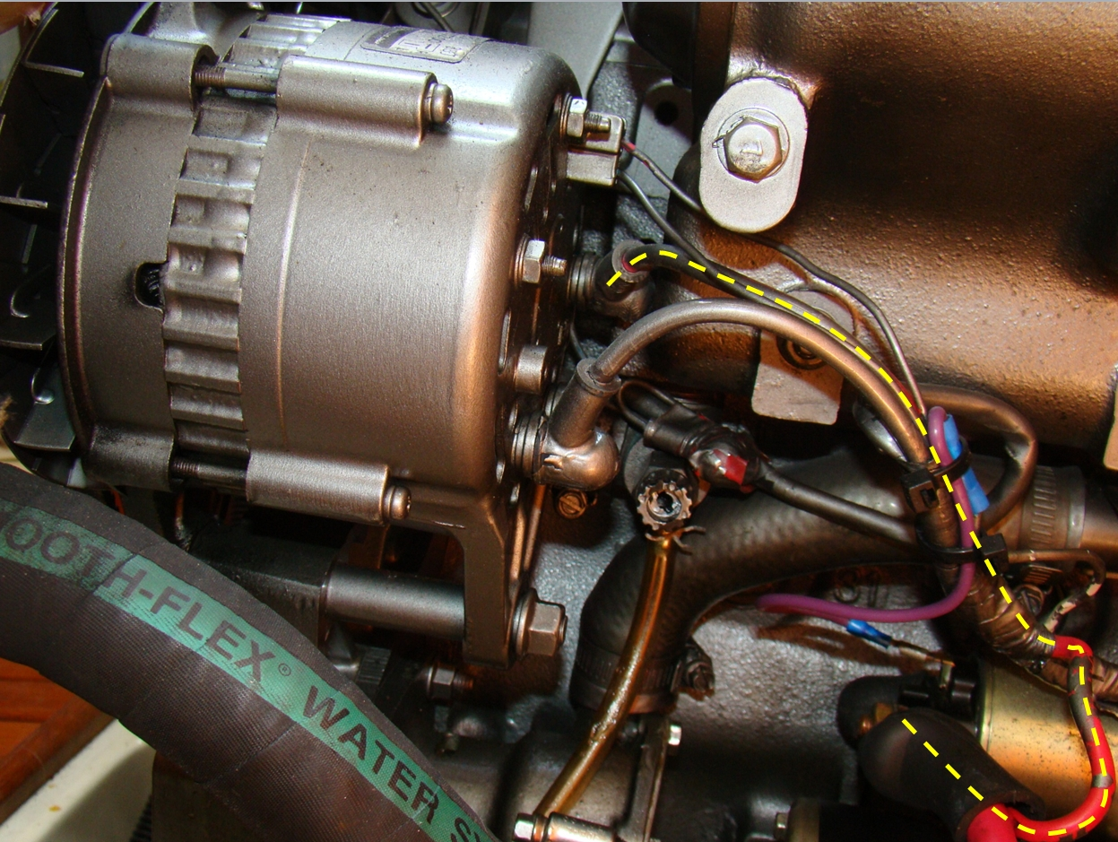 alternator connection to batteries sailboatowners com forums Yanmar 3JH2E Engine at cos-gaming.co