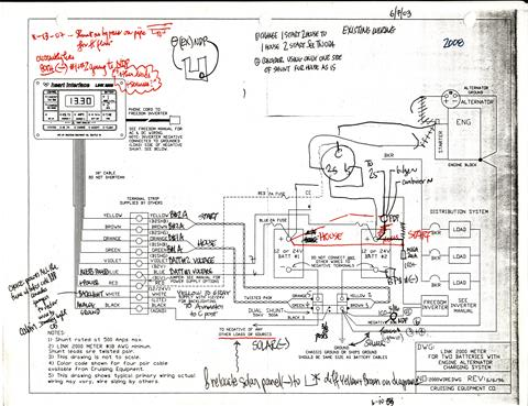 shunt wiring for engine ground? | Sailboat Owners Forums | Xantrex Link 2000 Wiring Diagram |  | Sailboat Owners Forums