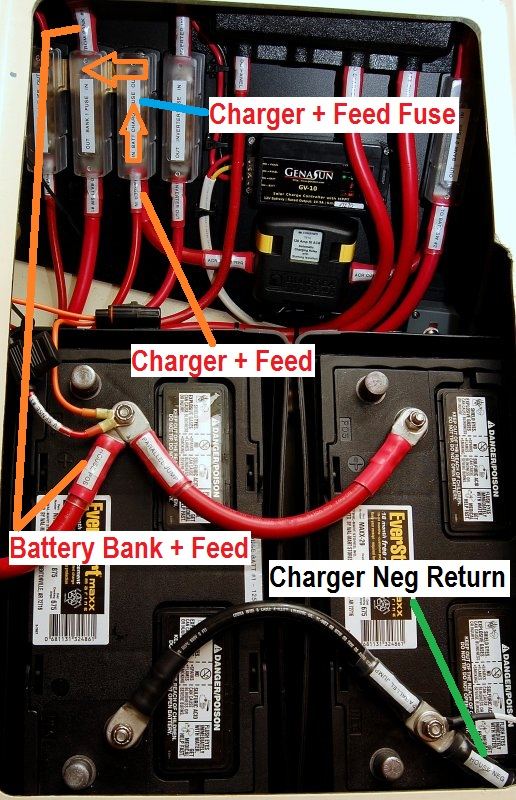 Battery bank & charger wiring questions sailboatowners com forums on wiring house batteries Wiring Accessory Kit Wiring Photovoltaic Cells