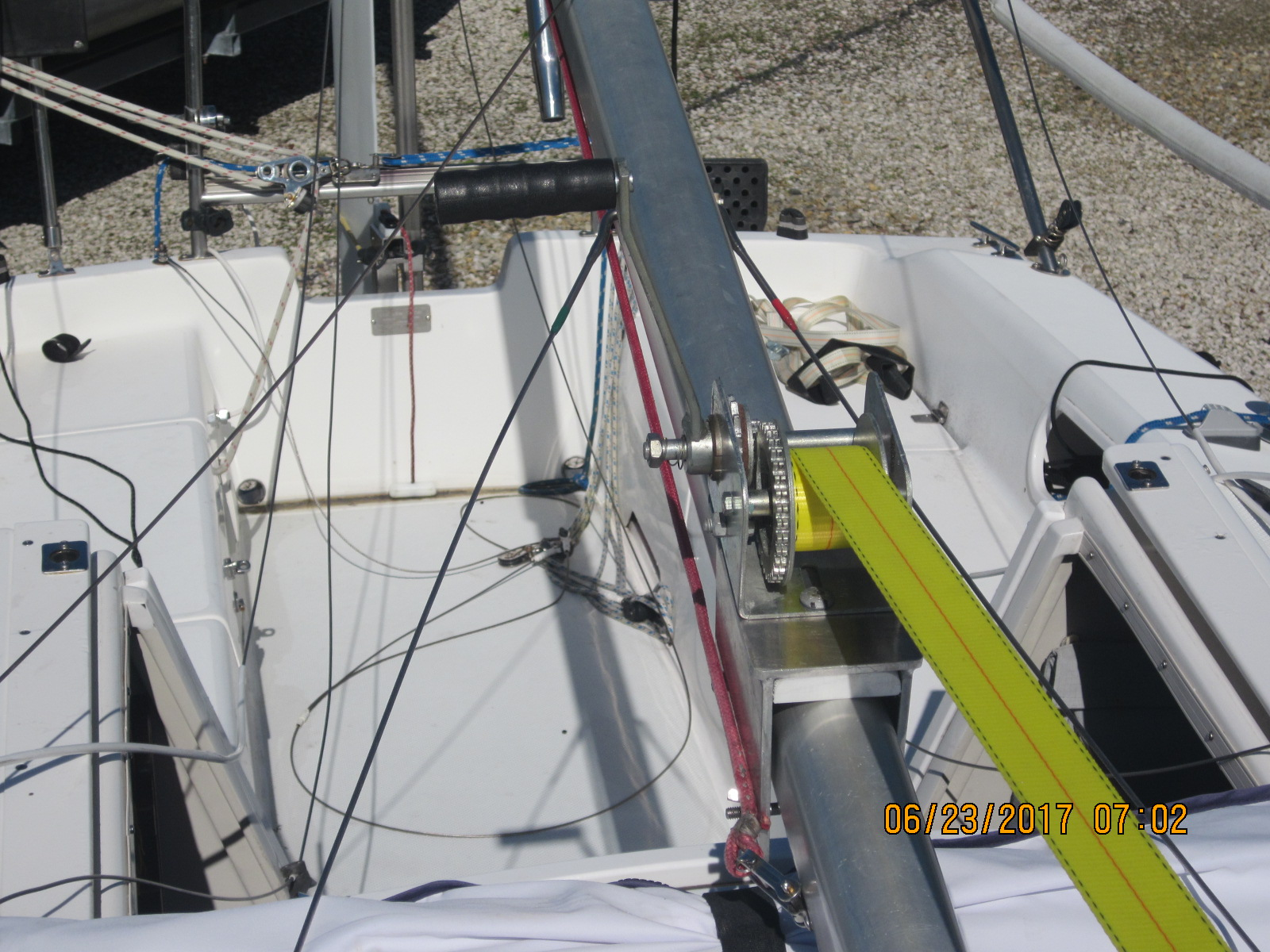 Rigging, Mast Raising, & a False Start | Sailboat Owners Forums