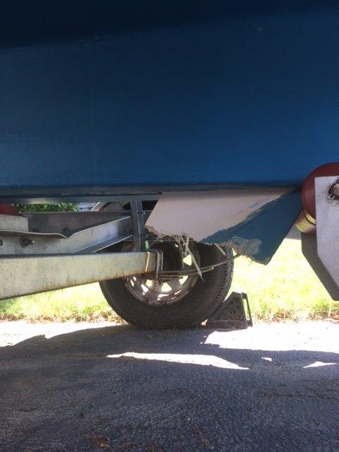 how to repair cracked sailboat keel repair
