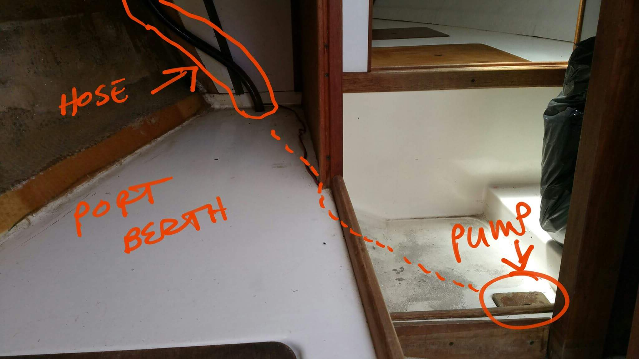 bilge pump location and drainage sailboatowners com forums