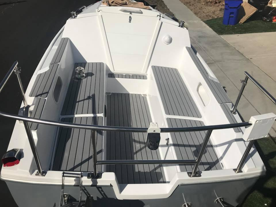 SeaDek cockpit in a C22 | Sailboat Owners Forums