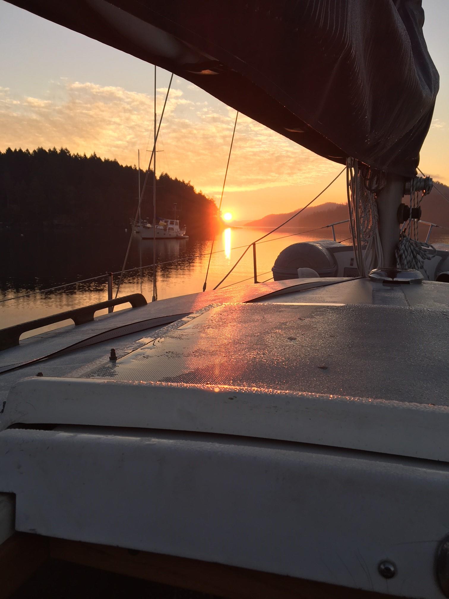 Sunrise departure Port Browning.JPG