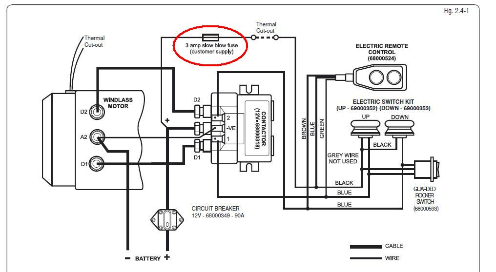 Windl power wiring | Sailboat Owners Forums on