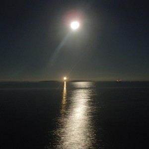 Cape Lookout and Full Moon 8/2013