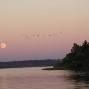 Moon rise on the ICW near New River, Jacksonville, NC