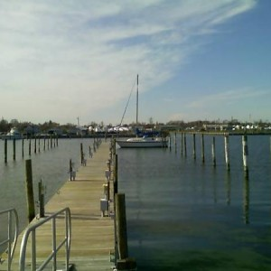 First boat in Bay Shore  marina