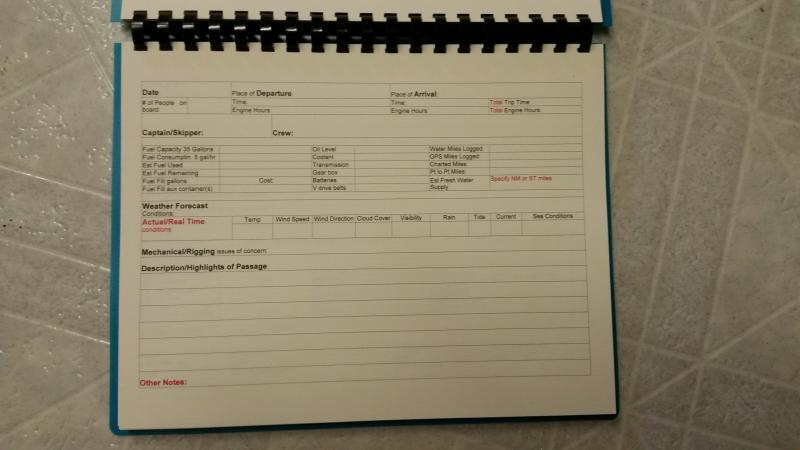 how to create a log book