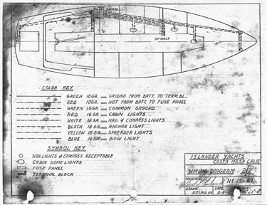 the original wiring diagram shws the layout of the boat the cabin Studio Wiring Diagram the original wiring diagram